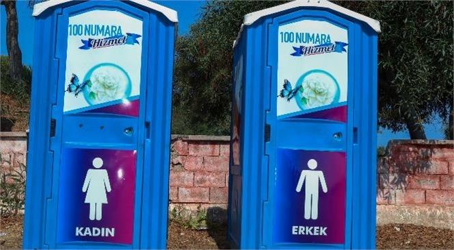 Plajlara Hijyenik Seyyar Tuvaletler Yerleştirildi