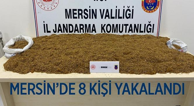 Mersin'de Uyuşturucu Operasyonu! Jandarma Ekipleri 2 İlçede 8 Kişiyi Gözaltına Aldı