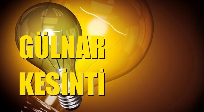 Gülnar Elektrik Kesintisi 19 Temmuz Pazartesi