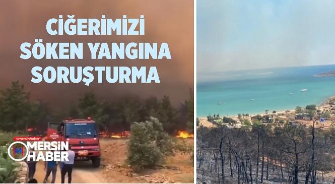 Mersin'deki Orman Yangınlarıyla İlgili Soruşturma Başlatıldı