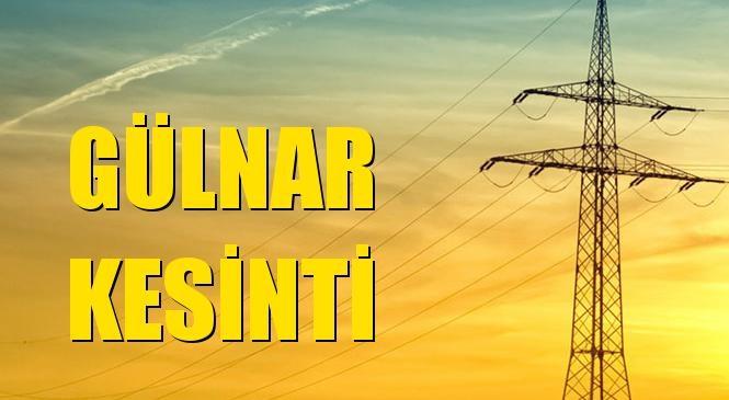 Gülnar Elektrik Kesintisi 31 Temmuz Cumartesi