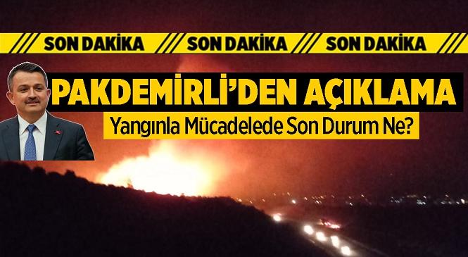 Tarım ve Orman Bakanı Bekir Pakdemirli Sosyal Medya Hesabından paylaştı! İşte Devam Eden ve Kontrol Altına Alınan Yangınlar