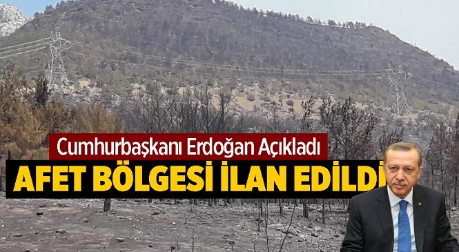 """Mersin'deki Orman Yangını 3.Gününde! Cumhurbaşkanı Erdoğan Yanan Yerlerin """"Genel Hayata Etkili Afet Bölgesi"""" İlan Edildiğini Duyurdu"""