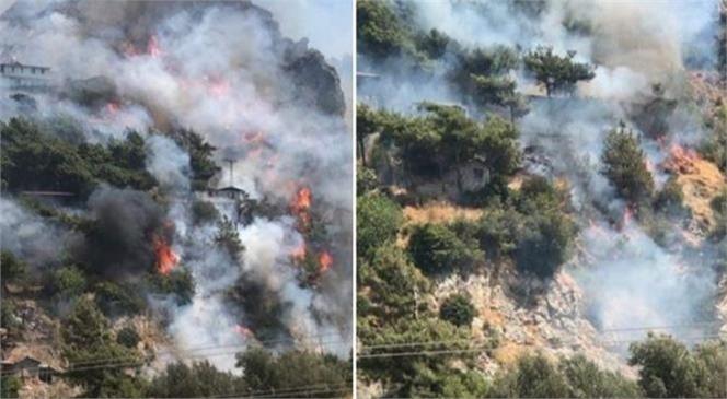 Bir Yangın Haberi de Hatay'dan Geldi! Merkez Antakya İlçesinde Yerleşim Yerlerine Yakın Noktada Yangın Çıktı