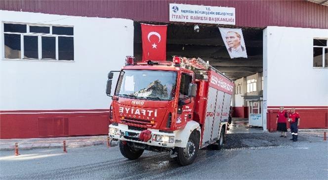 Mersin'den Çalışmalara Destek İçin 9 İtfaiye Aracı Yola Çıktı