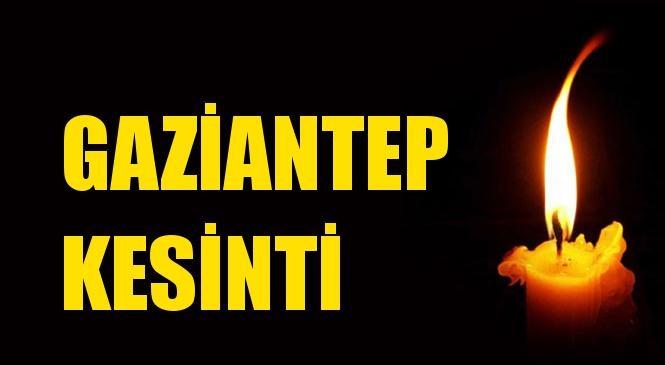Gaziantep Elektrik Kesintisi 09 Ağustos Pazartesi