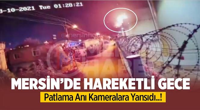 Mersin'de Petrol Depolama Tesisindeki Boş Tankta Korkutan Patlama! Olay Yerinde Drone Tespit Edildi