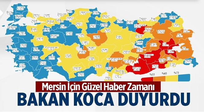 Kovid-19 Aşılamasında Mersin'in Rengi Maviye Döndü! Nüfusun %75,1'i Aşılandı