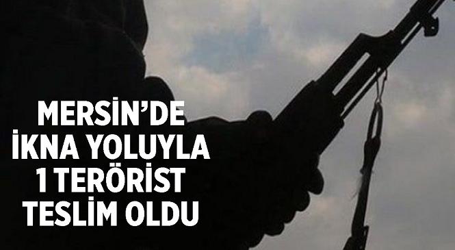 Mersin'de Polisin İkna Çalışması Sonucu Terör Örgütü PKK'nın Suriye Kolu PYD/YPG Mensubu A.E. Teslim Oldu