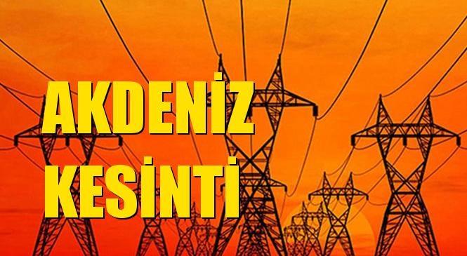 Akdeniz Elektrik Kesintisi 30 Ağustos Pazartesi