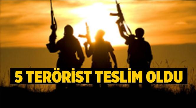 İçişleri Bakanlığı Duyurdu, İkna Yoluyla 5 Terörist Daha Teslim Oldu