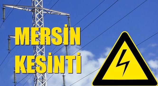 Mersin Elektrik Kesintisi 01 Eylül Çarşamba