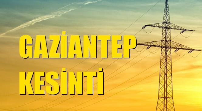 Gaziantep Elektrik Kesintisi 01 Eylül Çarşamba