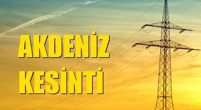 Akdeniz Elektrik Kesintisi 02 Eylül Perşembe