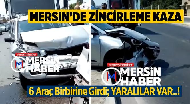 Mersin'in Tarsus İlçesinde Zincirleme Kaza! 3 Kişi Yaralandı