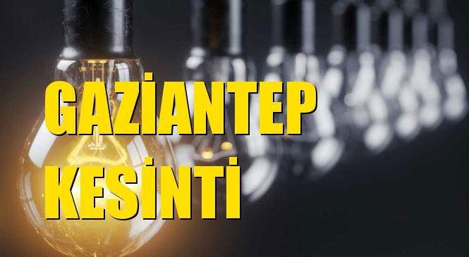 Gaziantep Elektrik Kesintisi 02 Eylül Perşembe