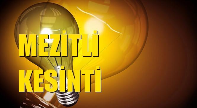 Mezitli Elektrik Kesintisi 03 Eylül Cuma