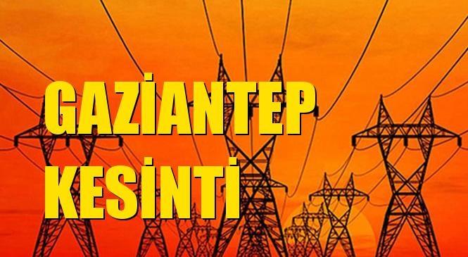 Gaziantep Elektrik Kesintisi 03 Eylül Cuma