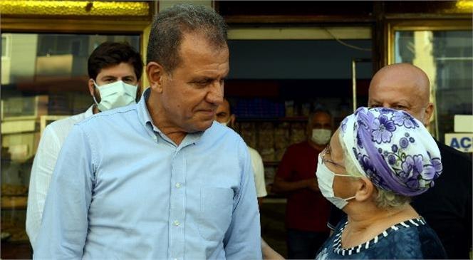 Başkan Seçer'den Tarsus'ta Hafta Sonu Mesaisi… Tarsus'ta Esnafı Gezen Başkan Seçer, Vatandaşın Taleplerini de Dinledi