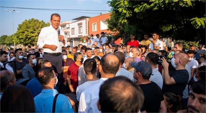 Mersin Büyükşehir Belediye Başkanı Seçer, Çay Mahallesi'nde Vatandaşlarla Bir Araya Geldi.
