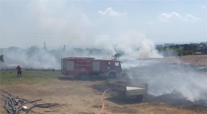 Mersin'in Erdemli İlçesi Kargıpınarı Mahallesi Çarçılı Mevkiinde Yangın Çıktı