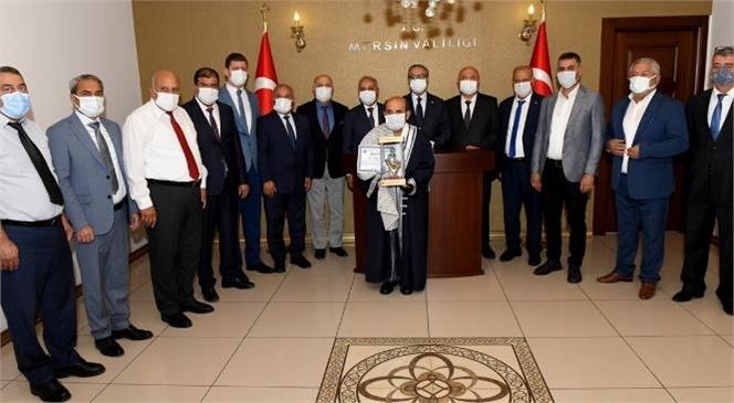 Mersin ESOB Yöneticilerinden Oluşan Heyet, Vali Ali İhsan Su'yu Ziyaret Etti