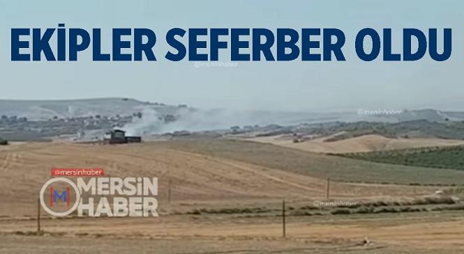 Mersin'in Tarsus İlçesinde Orman Yangını! Dumanlar Yükselmesi Üzerine Bölgeye Çok Sayıda Ekip Sevk Edildi