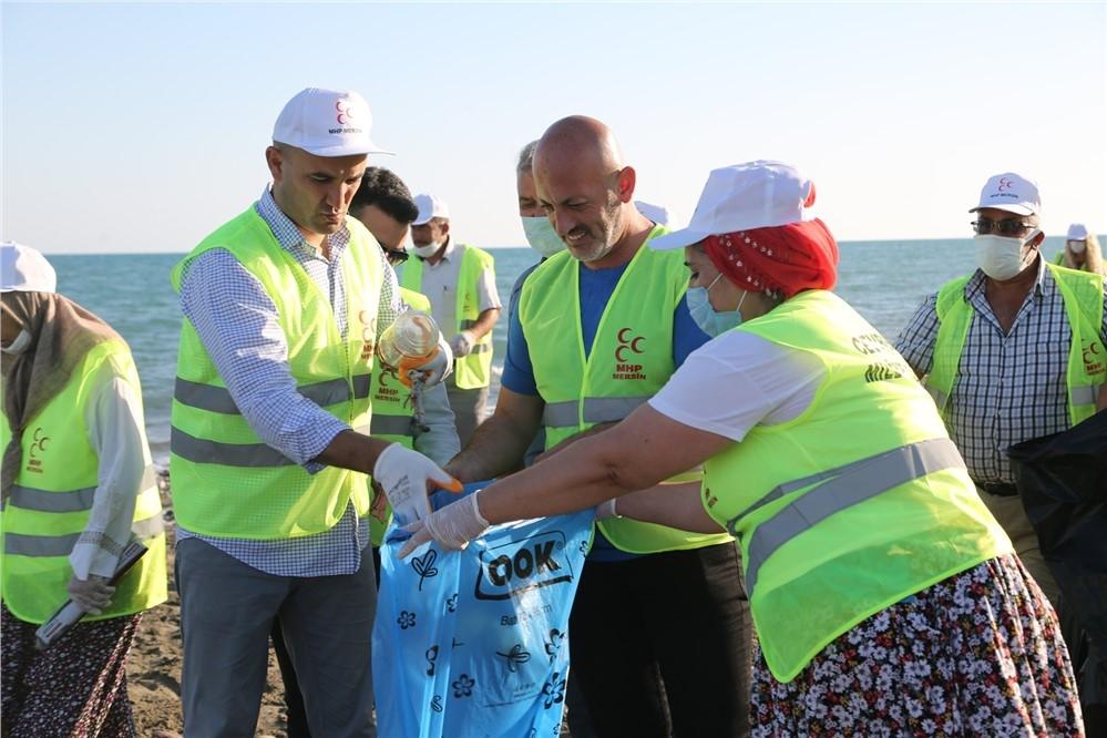 Temiz Bir Dünya İçin Çöp Topladılar! MHP Mersin İl Başkanlığı'nın 13 İlçede Düzenlediği Etkinlik Erdemli 'de Yoğun Bir Katılımla Gerçekleşti