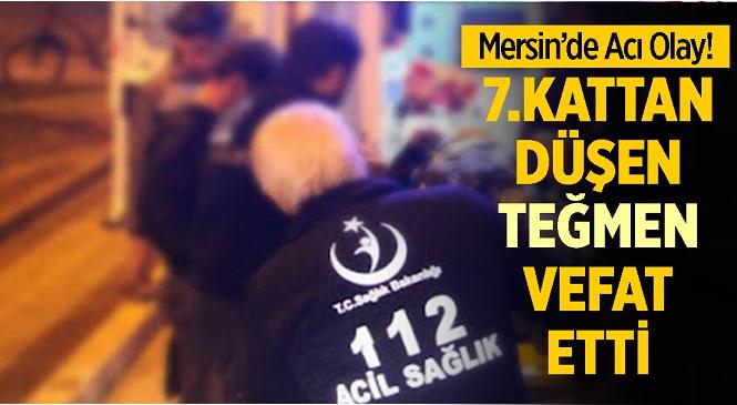 Mersin'de 7. Kattan Düşen Genç Teğmen Hayatını Kaybetti