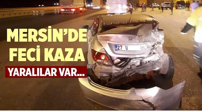 Mersin'in Tarsus İlçesinde Meydana Gelen Trafik Kazasında Otobüsün Çarptığı Otomobildeki 3 Kişi Yaralandı