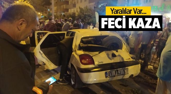 Mersin'in Tarsus İlçesindeki Trafik Kazasında 2 Kişi Yaralandı