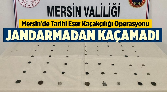 Mersin'de Tarihi Eser Kaçakçısı Jandarmadan Kaçamadı! Çok Sayıda Sikke Ele Geçirildi