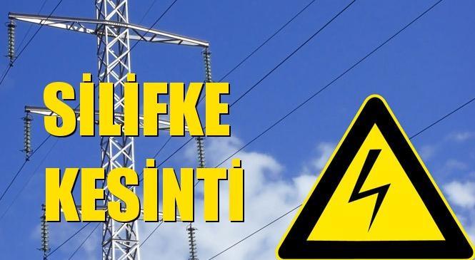 Silifke Elektrik Kesintisi 12 Ekim Salı
