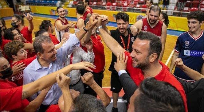 Başkan Seçer, Msk Erkek Basketbol Maçını İzledi