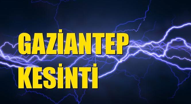 Gaziantep Elektrik Kesintisi 14 Ekim Perşembe