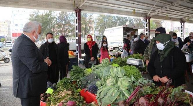 Erdemli Belediyesinin Üretici Pazarı, Pandemi Sürecinde Vatandaşa Umut Oldu