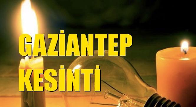 Gaziantep Elektrik Kesintisi 15 Ekim Cuma
