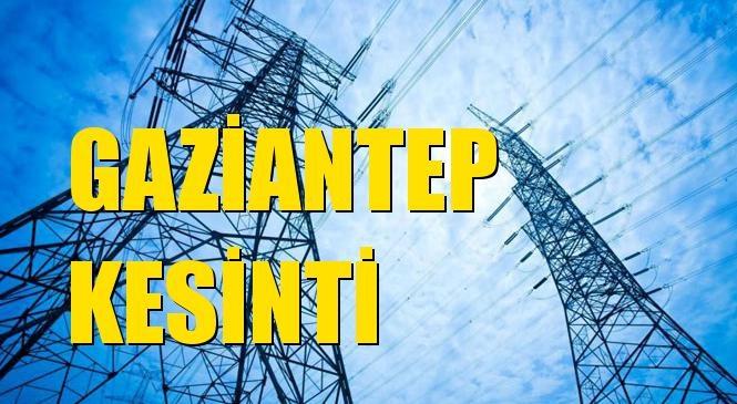 Gaziantep Elektrik Kesintisi 20 Ekim Çarşamba