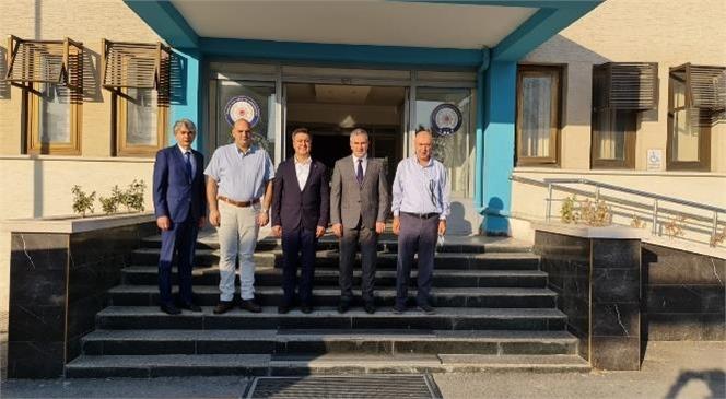 Başkan Murat Kaya Tarsus Emniyet Müdürlüğü Görevine Atanan Ebubekir Fil'i Ziyaret Etti