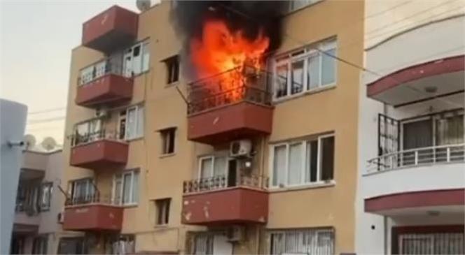 Mersin Yenişehir'de Meydana Gelen Yangında Ev Kullanılamaz Hale Geldi