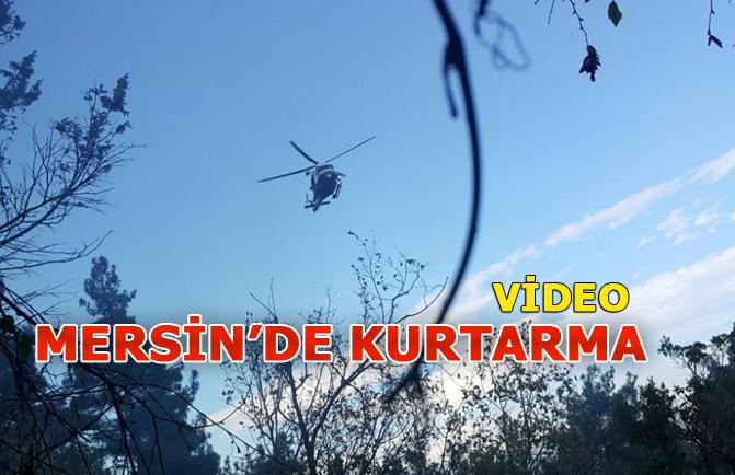 Mersin'de Kurtarma Videosu, Helikopterle Kurtardılar