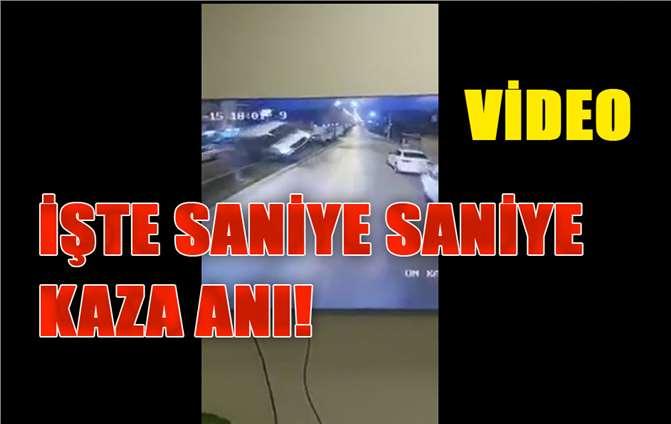 İşte Saniye Saniye, Kaza Anı! Mersin'de Akşam Saatlerinde Meydana Gelen Kaza