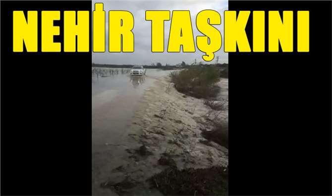 Mersin'de Berdan Nehri Taştı, Ekili Tarım Arazileri Sular Altında