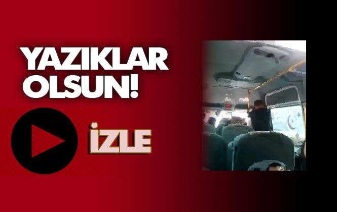 Mersin'de Dolmuş'ta Koca Şiddeti!, Seyahat Halindeki Minibüsün İçinde Defalarca Karısını Yumrukladı