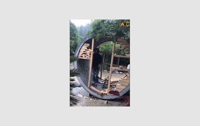 Kanalizasyon Borusundan Ev Yapımı