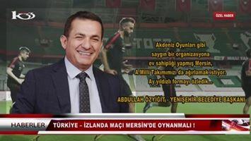 Türkiye – İzlanda Maçı Mersin'de Oynanmalı !