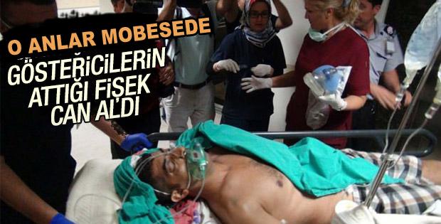 Mersin'de 1 kişinin öldüğü terör saldırısı kamerada