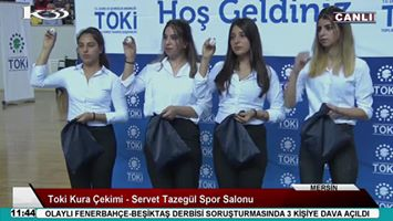 Mersin'de TOKİ Kura Çekimi, Servet Tazegül Spor Salonunda Yapıldı