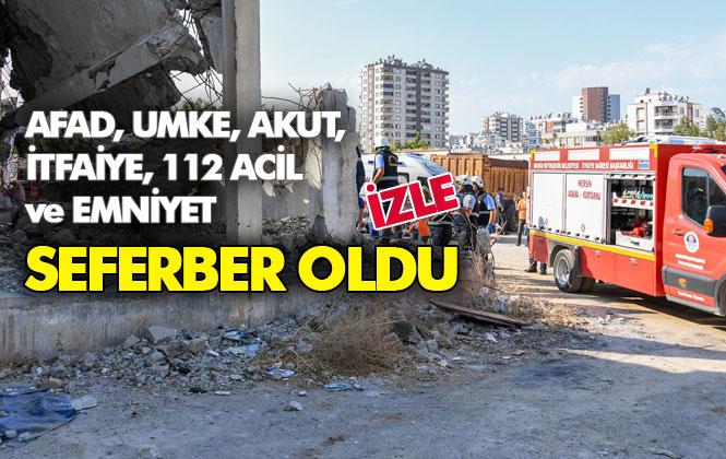 AFAD, UMKE, AKUT, İtfaiye, 112 Acil ve Emniyet Güçleri Seferber Oldu! Mersin'deki Deprem Tatbikatı Gerçeğini Aratmadı