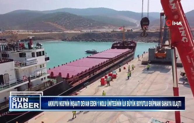 """Akkuyu Nükleer Güç Santralinde """"Kor Tutucu"""" İnşaat Sahasına Ulaştı"""